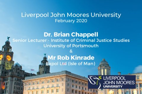 Expol Director, Rob Kinrade, speaks at Liverpool John Moores University